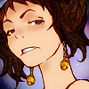 dressedinmelody: upshot of Alize from King of Bandits: Jing, sneering (our ears are so busy)