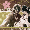 anghraine: concept art of anakin and padmé; text: the jedi, the senator (anakin and padmé [jedi/senator])