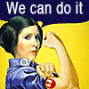 anghraine: leia as rosie the riveter; text: we can do it (leia [riveter])