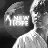 anghraine: b&w luke against a planet; text: a new hope (luke [a new hope])