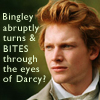 anghraine: bingley from 2005 p&p; text: bingley abruptly turns and BITES through the eyes of darcy! (bingley [zombie???])