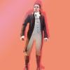 brassmama: Anthony Ramos as John Laurens, on an orange background (Default)