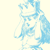 vorpal: Illustration of Alice from Alice in Wonderland putting on a crown (Default)