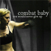 "kabal42: Kara Thrace from Battlestar Galactica with the text ""combat baby!"" (TV - BSG - Kara Combat baby!)"
