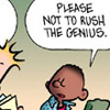"megpie71: Dark-skinned boy saying ""please not to rush the genius"" (Don't rush me)"