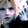 megpie71: AC Cloud Strife looking toward camera in Sleeping Forest (Cloud 2, WTF)