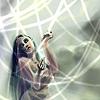 emberleo: A dark-haired woman weaving strands of light (dreaming)