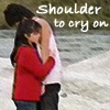 estirose: A young man is hugged by a shorter girl. (Shoulder to Cry On - KR Blade)