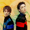 estirose: Two men in similar outfits watch the viewer. (Hoji and Ban - Dekaranger)