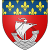 dhampyresa: Paris coat of arms: Gules, on waves of the sea in base a ship in full sail Argent, a chief Azure semé-de-lys Or (fluctuat nec mergitur)