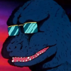 beast_trash: a cool godzilla wearing sunglasses (rad)