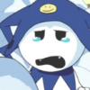 beast_trash: jack frost from SMT crying over a snowman (WHY u do this)