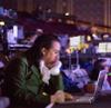 grammarwoman: Lin-Manuel Miranda in Hamilton costume on a laptop (Hamilton laptop)
