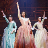 grammarwoman: The Schuyler sisters each with an arm in the air (Schuyler Sisters Work)