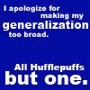 non_horation: (all hufflepuffs but one)