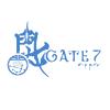"gate_seven: The ""Gate 7"" logo. (logo, Blue Logo)"