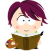 moem: cartoon pic of me with book and palette (south park)