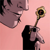 calime: Agent of Asgard Loki half face holding a key (Loki key)