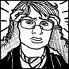 turtlesoup: turtle (a bespecacled, short-haired cartoonist) clutches her head in dismay (oh my head - wtf)