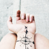 mortalcity: A woman's wrist with a compass rose tattoo. (stock | keep following the heartlines)