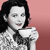 gryffindoridiot: Hedy Lamarr drinking tea (lamarr - tea)