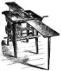 tablesaw: Sketch of an antique tablesaw (Antigua)