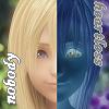 leasspell_dael: Namine's face, divided in two so she looks half-Heartless (kh - namine - nobody's heartless)