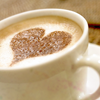 redsnake05: Cup of coffee with a heart in the foam (Affection: love in coffee)