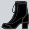 buttonsbeadslace: drawing of a high-heeled boot (Default)