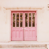 from: (behind pink doors)