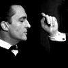 misbegotten: Jeremy Brett in profile, black and white (Holmes Brett in Profile)