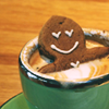 skieswideopen: A gingerbread man soaking in a mug of hot chocolate (Gingerbread)