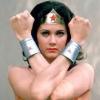 thewonders: Linda Carter, as Wonder Woman, from the shoulders up. Arms crossed in traditional WW salute. (Linda)