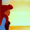 "matahari: Ariel from Disney's ""The Little Mermaid"" looking forlorn during a sunset. (ariel)"