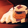 matahari: Appa from Mike DiMartino and Bryan Konietzko's ATLA ingesting an entire bale of hay at once and looking adorable. (appa, atla, nom nom nom)