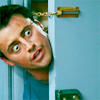 "matahari: Joey from ""Friends"" poking his head around a door and looking extremely interested. (friends, creeper, excited, joey)"