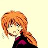 """matahari: Kenshin from Nobuhiro Watsuki's """"Rurouni Kenshin"""" smiling a little sheepishly. Oro? (smile, kenshin, rurouni kenshin, laugh, ehehehe)"""