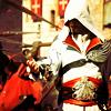 setra: Ezio Auditore, assassin, catches a feather in his hand. (ezio)