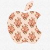 fascination: The Apple logo with a floral print. (Think Apple.)