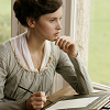 sharpiefan: Felicity Jones as Catherine Morland, writing a letter (Emma Vickery)