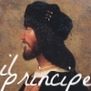 anghraine: portrait of cèsar de borja; text: il principe (cèsar [il principe])