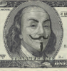 mdlbear: Franklin on the $100 bill wearing Guy Fawkes mask (transfer-me)