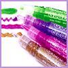 kathmandu: Photo of markers that write glittery ink in rainbow colors. (Glitter pens)