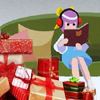 cloud_riven: Ghost Trick's Kamila sitting on a couch next to a pile of wrapped Christmas presents. (readan listenan can't hear you)