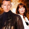 azarsuerte: Manip of the Ninth Doctor (Chris Eccleston) and Nyssa (Sarah Sutton) (Doctor Who - Nine/Nyssa)