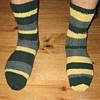 ysilme: Hand-knitted, striped socks (Knitting)