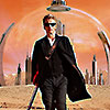 juniperphoenix: The Twelfth Doctor on Gallifrey with guitar and sunglasses (DW: Twelve rebel)