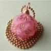 catastrophy: sparkly pink d20 necklace (Default)