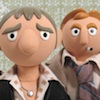 "firecat: stopmotion puppets of gene and sam, characters in the tv show ""life on mars"" (life on mars stopmotion)"