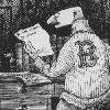 "lolaraincoat: Gorey drawing of character ""Mr. Earbrass"" (mr earbrass)"
